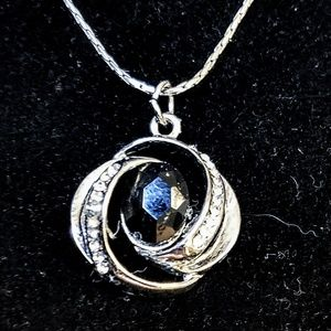 Jewelry - Sapphire and cz necklace
